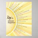 ABC de la felicidad auténtica Poster