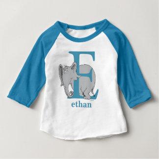 ABC del Dr. Seuss: Letra E - El azul el   añade su Camiseta De Bebé