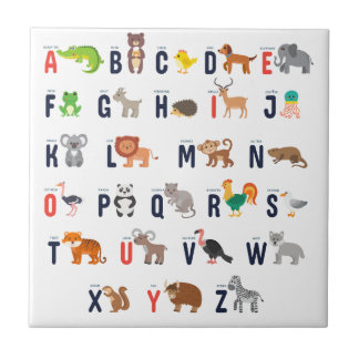 ABCs animal - alfabeto Azulejo