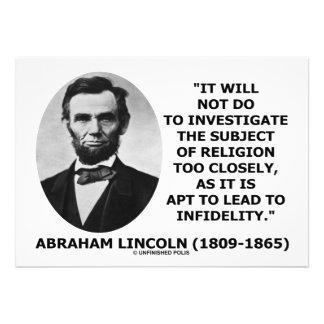 Abe Lincoln no hacer para investigar cita de la re Comunicados