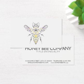 abeja adornada de la miel tarjeta de visita