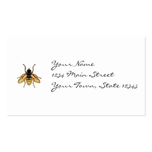 Abeja amarilla y negra del vintage plantilla de tarjeta personal