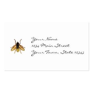 Abeja amarilla y negra del vintage tarjetas de visita