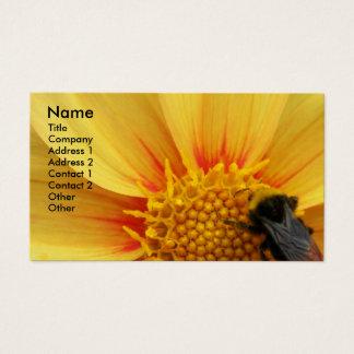 Abeja de Buzzy floral Tarjeta De Visita