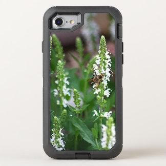 Abeja de la flor blanca funda OtterBox defender para iPhone 7