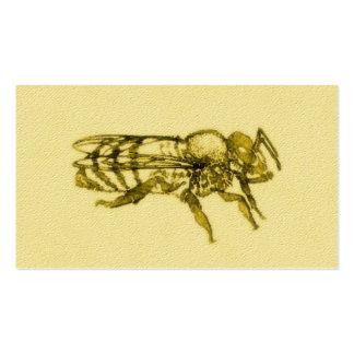 Abeja de la miel de la acuarela tarjetas de visita