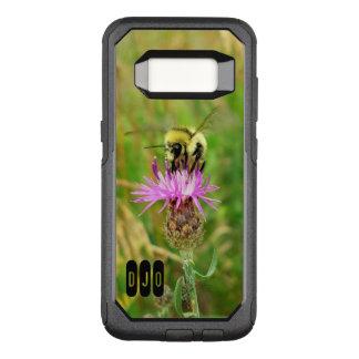 Abeja de la miel en el flor púrpura de la mala funda otterbox commuter para samsung galaxy s8