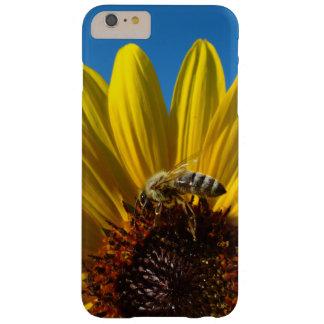 Abeja de la miel en la caja de la foto del girasol funda barely there iPhone 6 plus