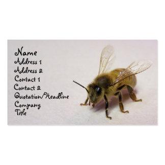 abeja de la miel tarjetas de visita