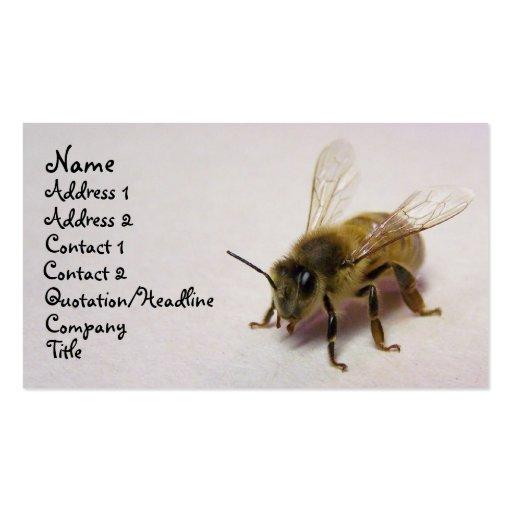 abeja de la miel plantilla de tarjeta personal