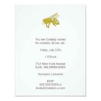 Abeja de la prensa de copiar invitación 10,8 x 13,9 cm