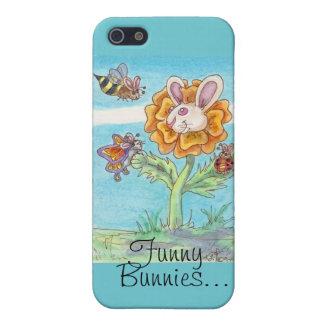 Abeja del conejito de la maravilla, mariposa y iPhone 5 carcasa