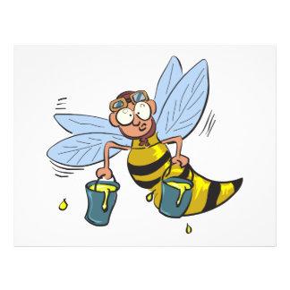 Abeja del dibujo animado de la miel flyer a todo color