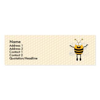 Abeja del dibujo animado tarjetas de visita mini