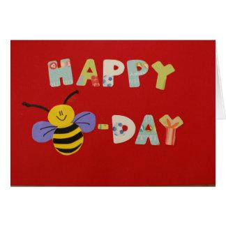 Abeja-Día feliz Tarjeta De Felicitación