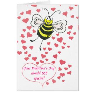 ABEJA - el día de San Valentín - tarjeta
