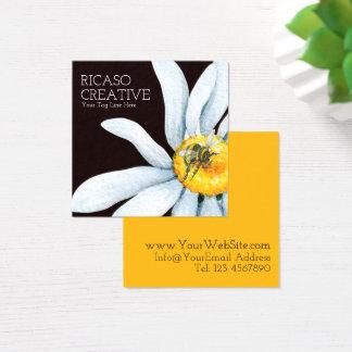 Abeja en acuarela personalizada personalizado de tarjeta de visita cuadrada