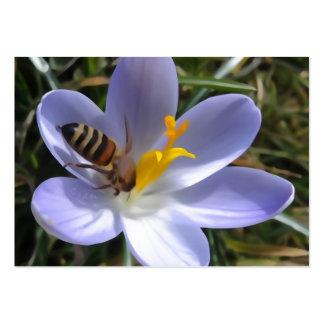abeja en azafrán tarjetas de visita grandes