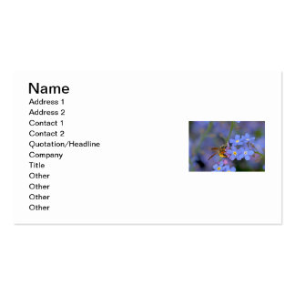 Abeja en flores de las nomeolvides tarjeta de visita