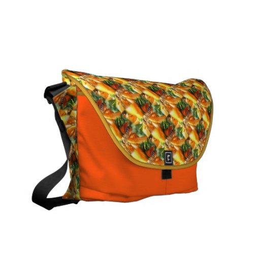 Abeja en la bolsa de mensajero de la flor de la bolsas de mensajería