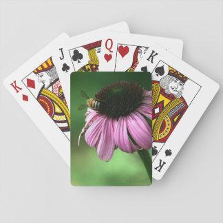 Abeja en la flor baraja de cartas