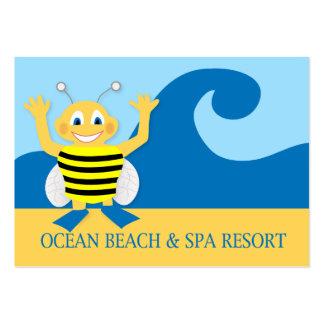 Abeja en la playa tarjetas de visita grandes