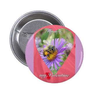 Abeja en tarjeta del día de San Valentín de los as Chapa Redonda 5 Cm