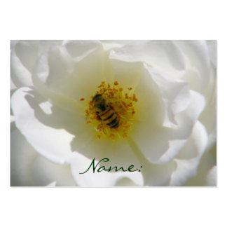 Abeja en una tarjeta de visita de Flower_