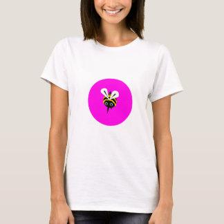 Abeja feliz - camiseta rosada de la abeja