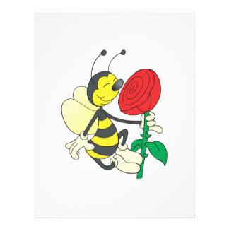 abeja feliz linda que huele subió tarjeton