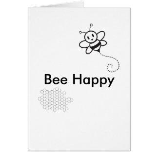 Abeja feliz tarjeta de felicitación