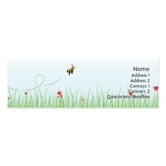 Abeja - flaca tarjetas de visita