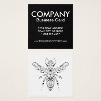 abeja hermosa tarjeta de visita cuadrada
