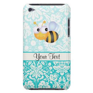 Abeja linda; Modelo del damasco del trullo iPod Touch Case-Mate Cárcasa