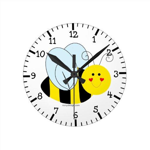 Abeja linda reloj de pared zazzle - Reloj de pared diseno ...
