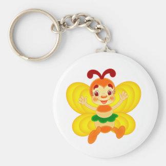 abeja llavero redondo tipo chapa