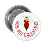 Abeja mi botón de la tarjeta del día de San Valent Pin
