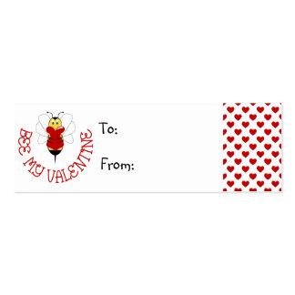 Abeja mi etiqueta del regalo de la tarjeta del día tarjeta de visita