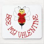 Abeja mi tarjeta del día de San Valentín Mousepad Tapetes De Ratón