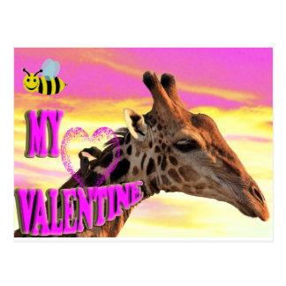 abeja mi tarjeta del día de San Valentín Postal