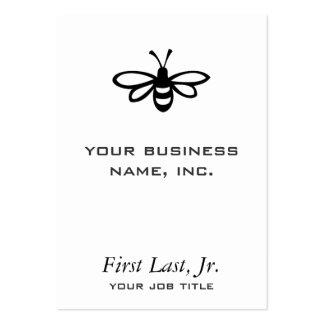 Abeja negro tarjeta de visita