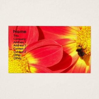 Abeja ocupada floral tarjeta de visita