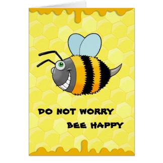 abeja positiva tarjeta de felicitación