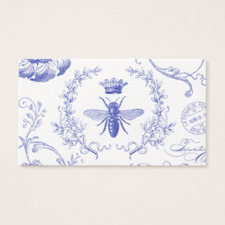 abeja reina moderna del francés del vintage tarjeta de visita