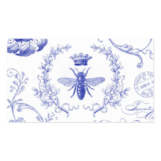 abeja reina moderna del francés del vintage tarjetas de visita