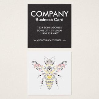 abeja reina tarjeta de visita cuadrada