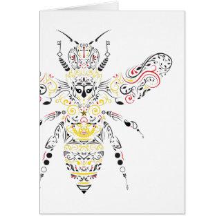 abeja reina tarjeta pequeña