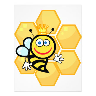 abeja reina y colmena lindas flyer personalizado