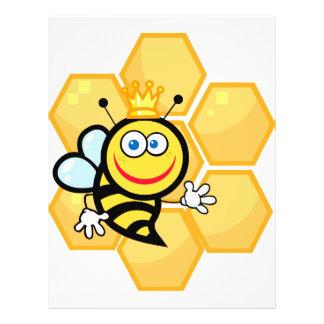 abeja reina y colmena lindas folleto 21,6 x 28 cm