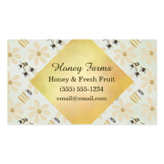 Abeja y flor de la miel tarjetas de visita